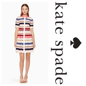 New KS Spice Things Up Berber Stripe Shirtdress